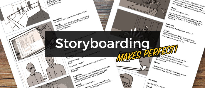 video production storyboard sketch, video production sketch